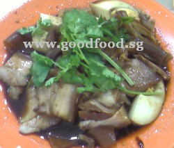 braised pork, skin and innards