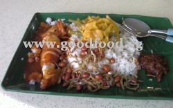 Curry nasi lemak with sotong