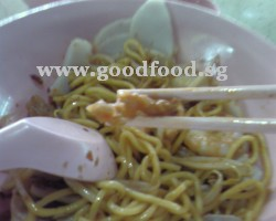 Prawn mee with pork lard