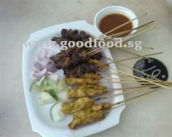 mutton and chicken satay